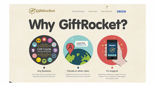 Why GiftRocket page